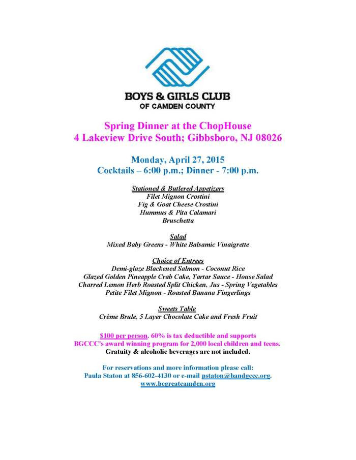 2015 Spring Dinner at the ChopHouse