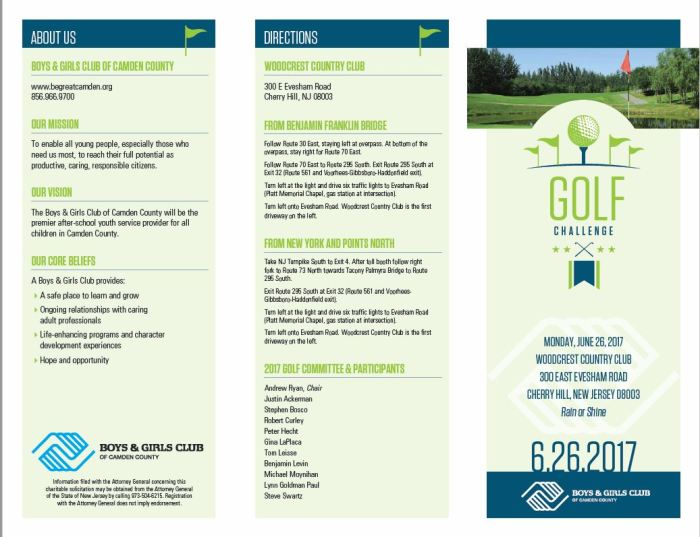 Capture Golf flyer front