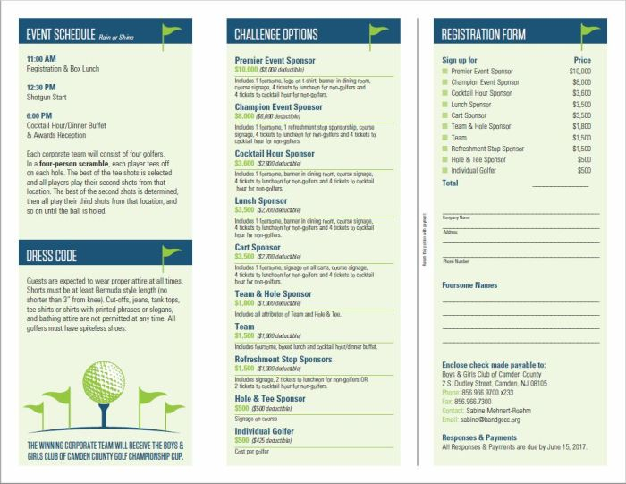 Capture Golf flyer inside